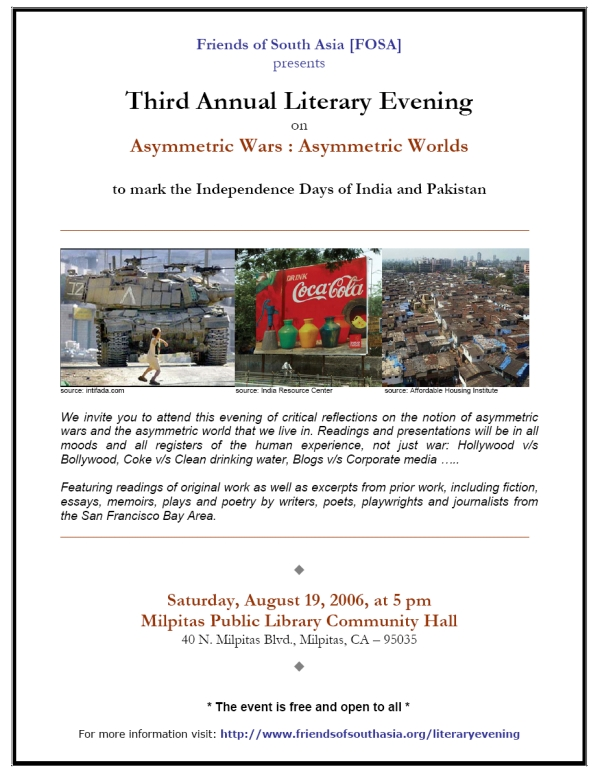 Friends of South Asia's Third Annual Literary Evening