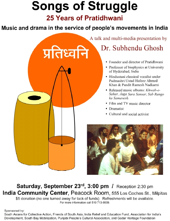 Songs of Struggle - Saturday, Sep 23, 3pm